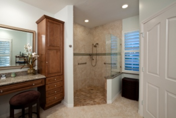Remodeled bathroom in Los Angeles CA by All City Construction and Remodeling